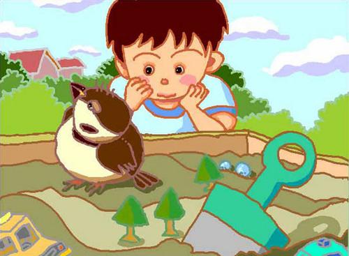 スズメと男の子.jpg
